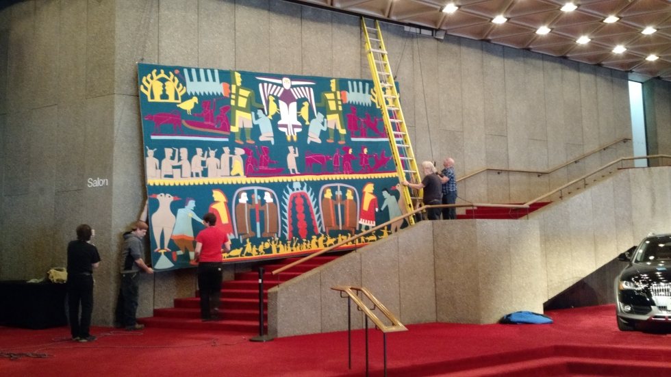 Bringing the tapestry down
